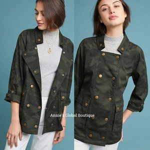 NWT ANTHROPOLOGIE Marrakech Camo Anorak Jacket
